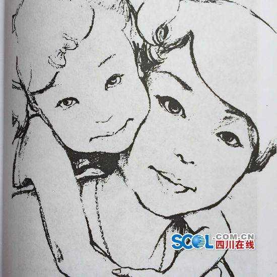 母亲手绘温馨图